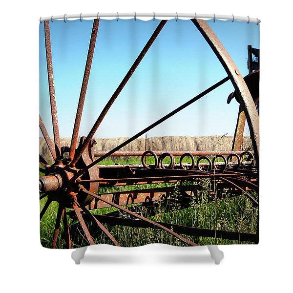 Spokes Shower Curtain