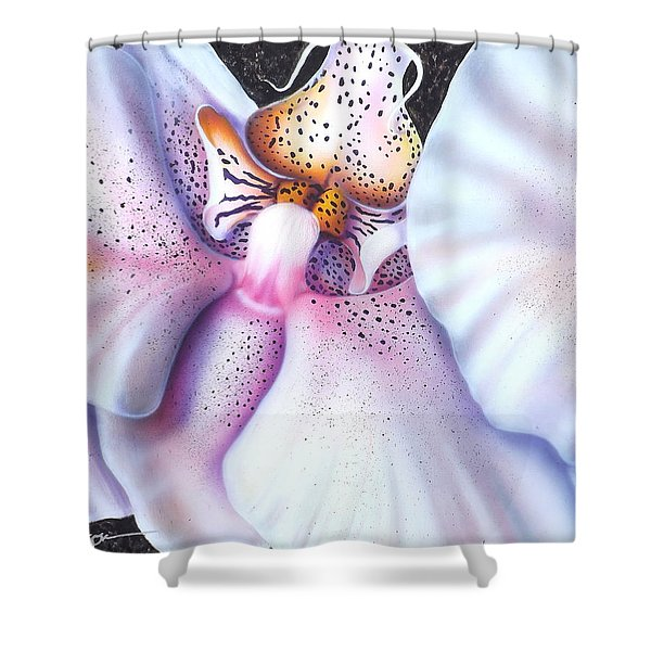 Spotted Orchid Shower Curtain