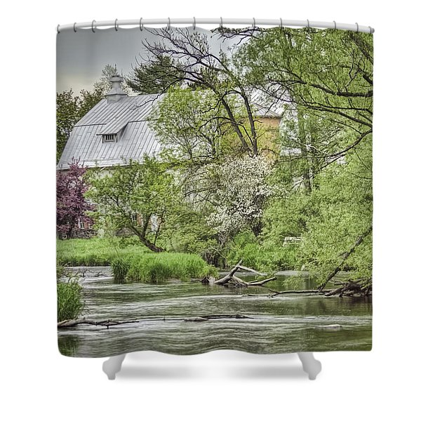 Spring Arrives At The Rose Farm Shower Curtain