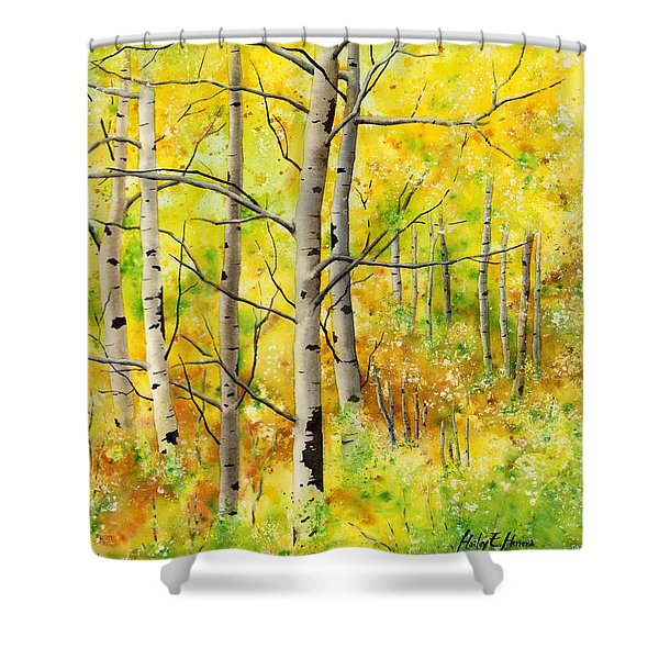 Spring Aspens Shower Curtain