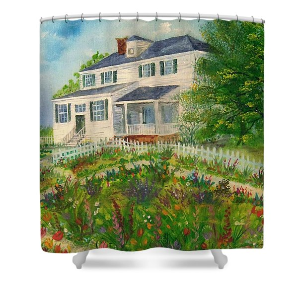 Spring In Colonial Williamsburg- Cole House Shower Curtain
