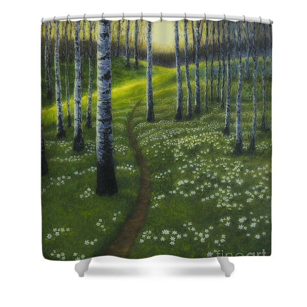 Spring Path Shower Curtain