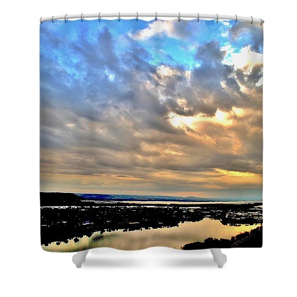 Spring Rain Shower Curtain