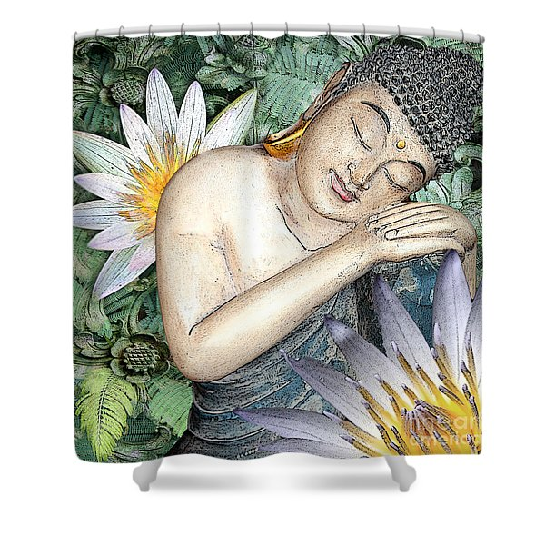 Shower Curtain featuring the digital art Spring Serenity by Christopher Beikmann