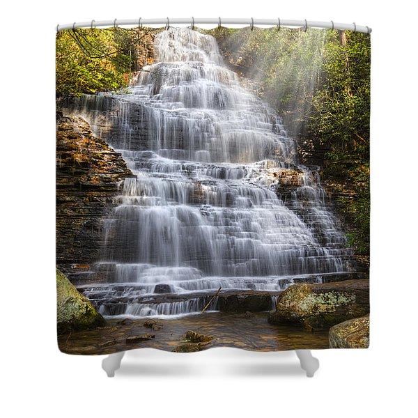Springtime At Benton Falls Shower Curtain