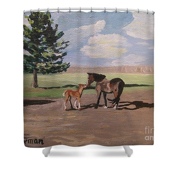 Springtime Foal Shower Curtain