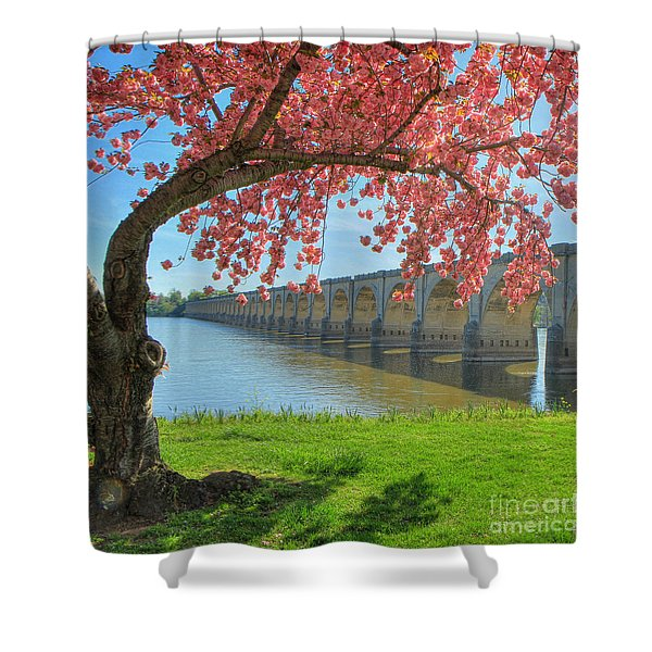 Springtime On The River Shower Curtain