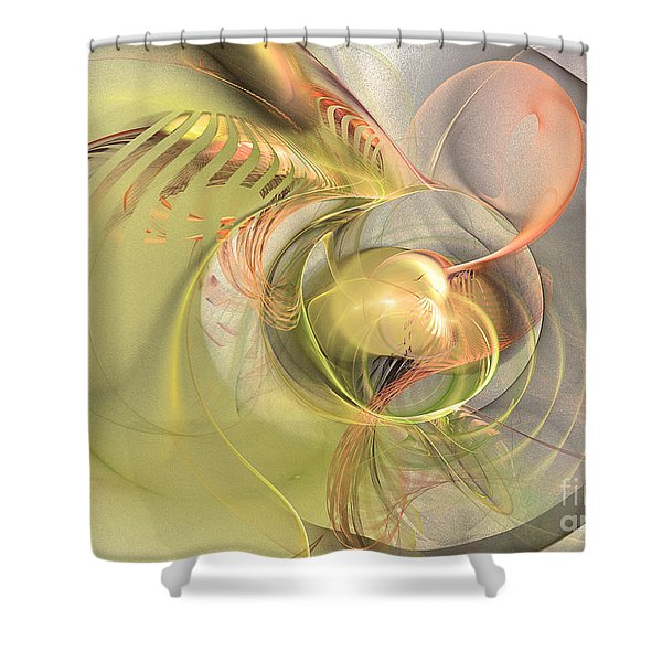 Sprouting Up - Abstract Art Shower Curtain