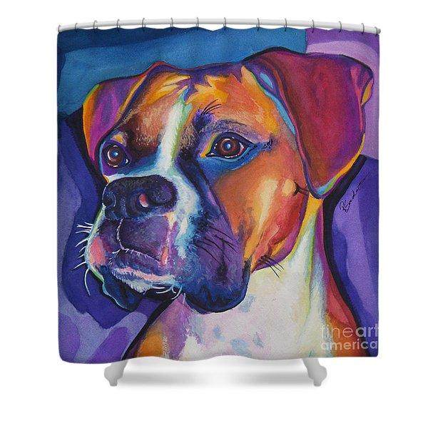 Square Boxer Portrait Shower Curtain
