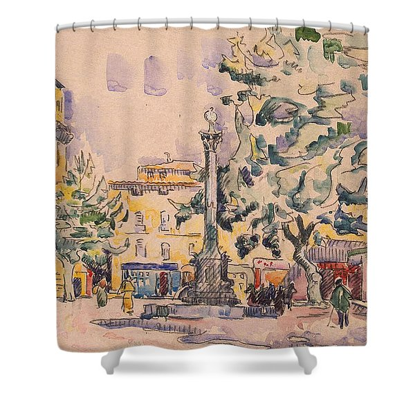 Square Of The Hotel De Ville Shower Curtain