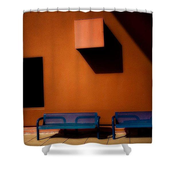 Square Shadows Shower Curtain