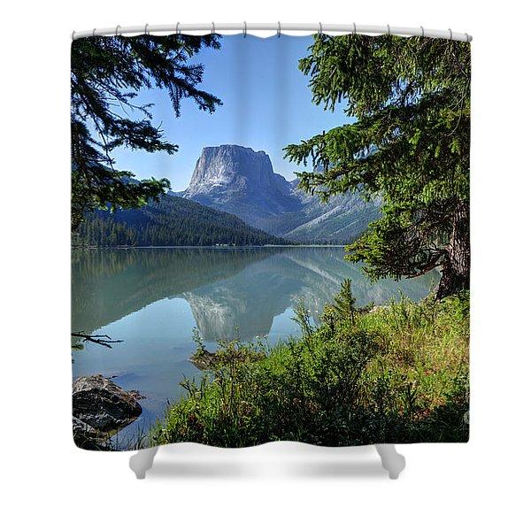 Squaretop Mountain - Wind River Range Shower Curtain
