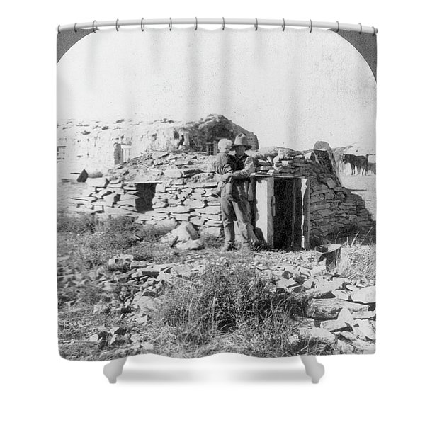 Squatter Shelter, 1905 Shower Curtain