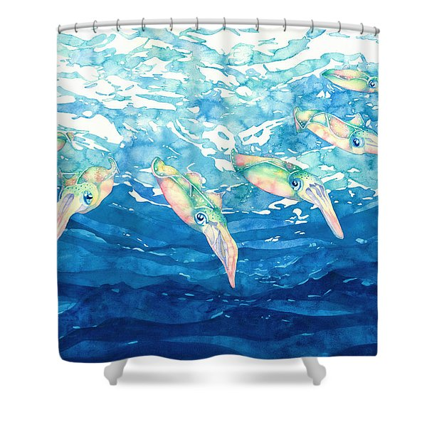 Squid Ballet Shower Curtain