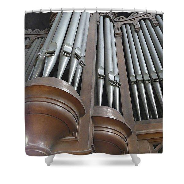 St Augustin Organ Shower Curtain