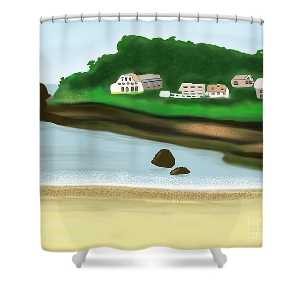 A Peaceful Life  Shower Curtain