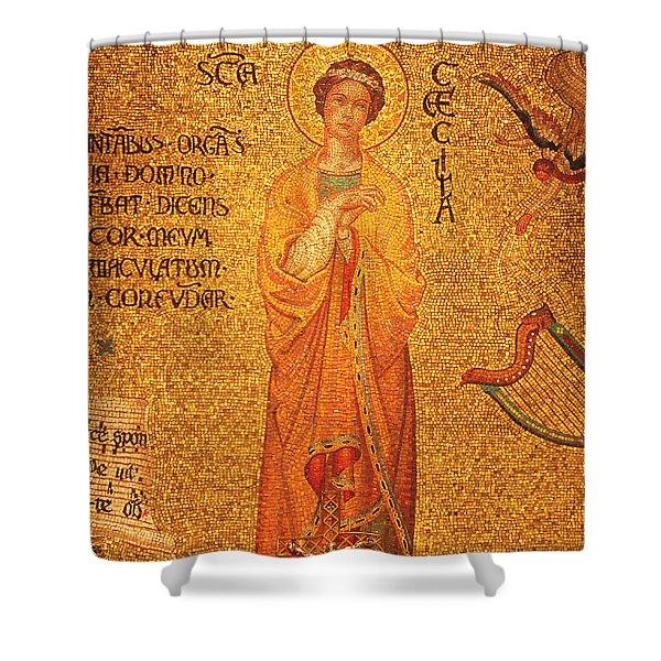St Cecilia  Shower Curtain