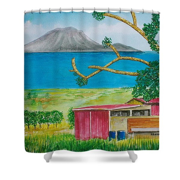 St. Eustatis From St. Kitts Shower Curtain