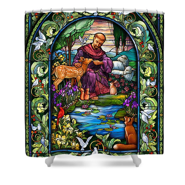 St. Francis Of Assisi Shower Curtain