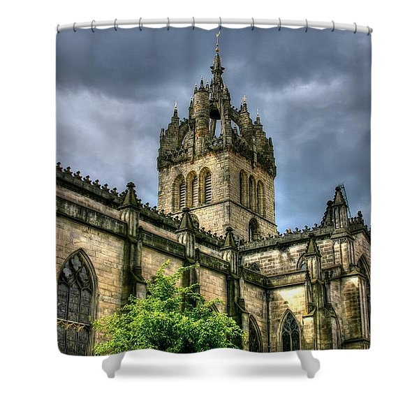 St Giles And Tree Shower Curtain