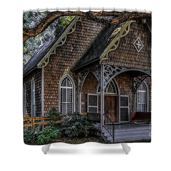 St. James Episcopal Church In Mccellanville Sc Shower Curtain