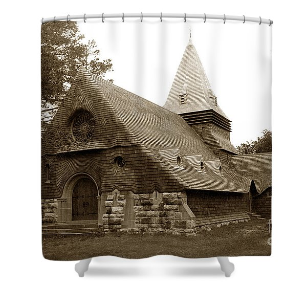 St. Johns Chapel Del Monte Monterey California 1895 Shower Curtain