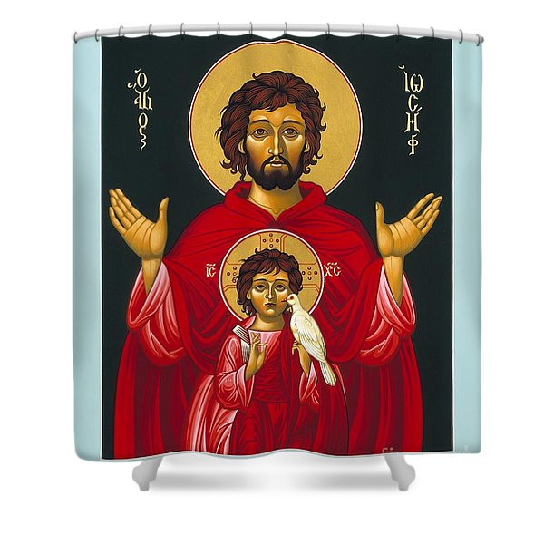 St. Joseph Shadow Of The Father 039 Shower Curtain