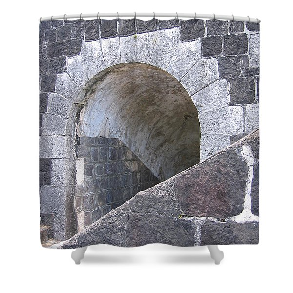 St. Kitts  - Brimstone Hill Fortress Shower Curtain