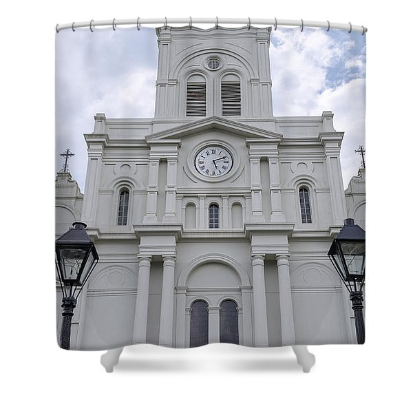 St. Louis Cathedral Close-up Shower Curtain