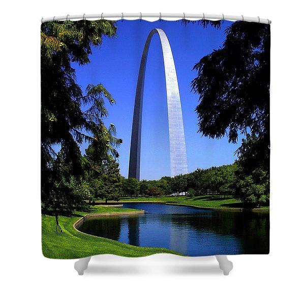 St Louis Gateway Arch Shower Curtain