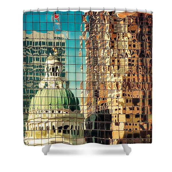 St. Louis Old Courthouse Reflected Shower Curtain