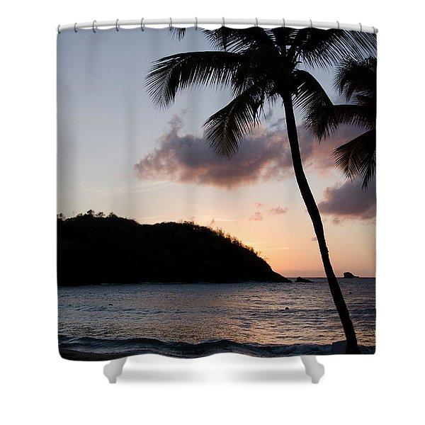 St. Lucian Sunset Shower Curtain