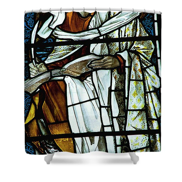 St Luke In Stained Glass Shower Curtain