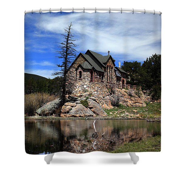 St. Malo Chapel Shower Curtain