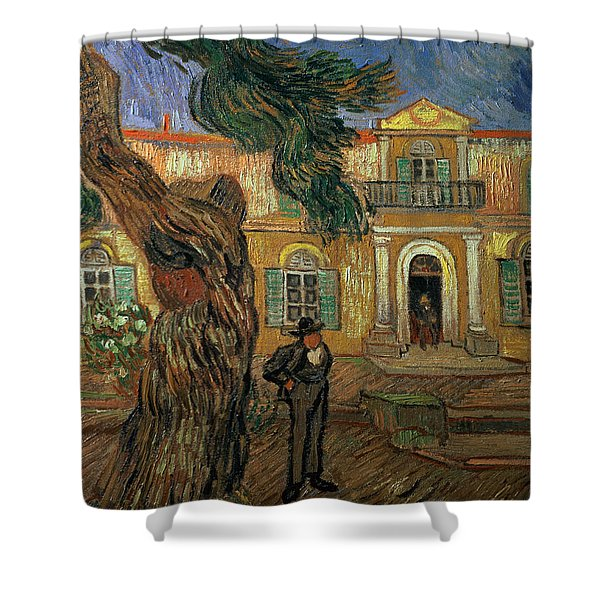 St Pauls Hospital, St Remy, 1889 Shower Curtain
