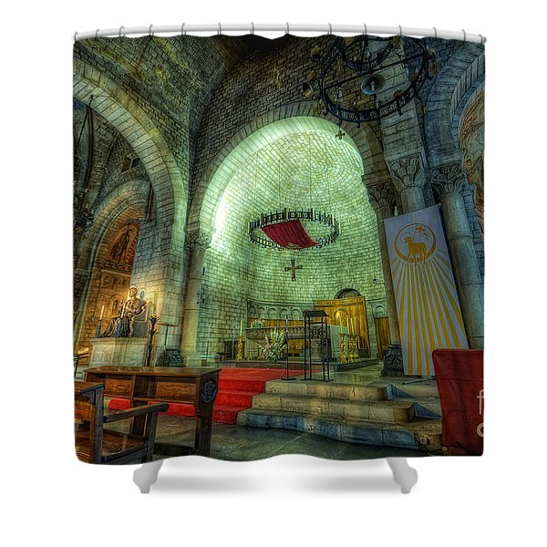 St Pere De Puelles Church - Barcelona Shower Curtain