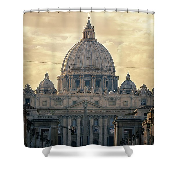 St Peter's Afternoon Glow Shower Curtain
