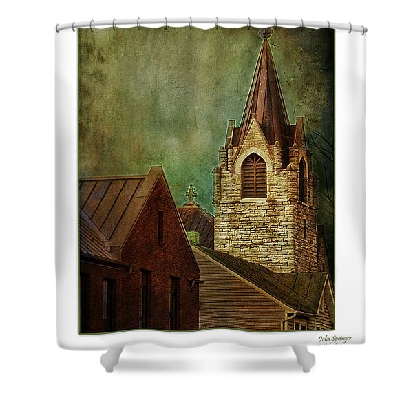 St Peter's By Night Greeting Card Shower Curtain