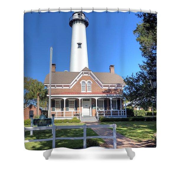 St. Simons Island Light Station Shower Curtain