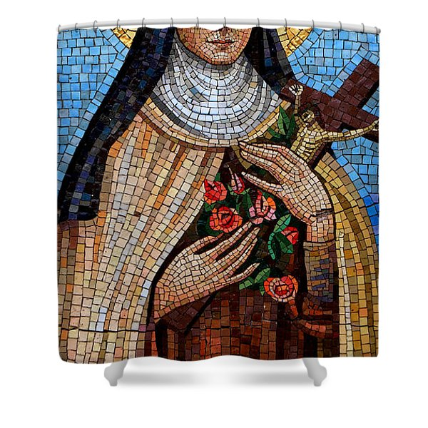 St. Theresa Mosaic Shower Curtain