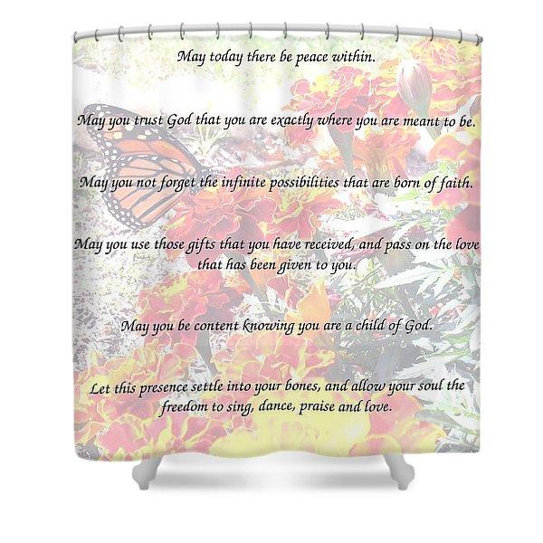 St Theresa's Prayer Shower Curtain