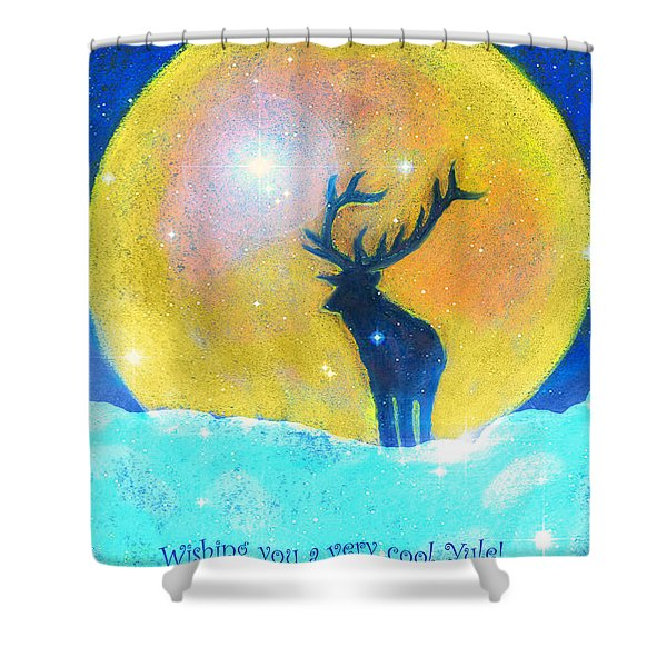 Stag Of Winter Shower Curtain