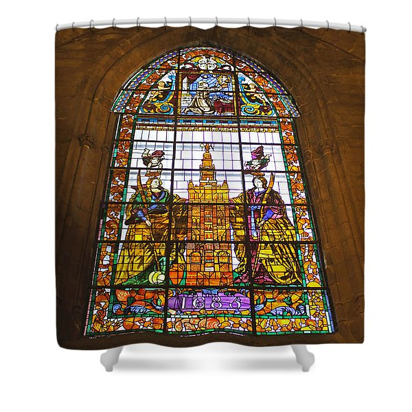 Stained Glass Window In Seville Cathedral Shower Curtain