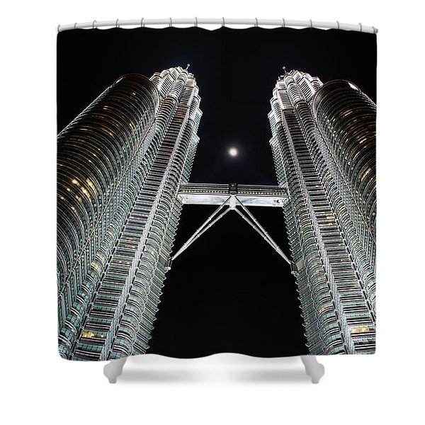 Stainless Steel Moon Shower Curtain