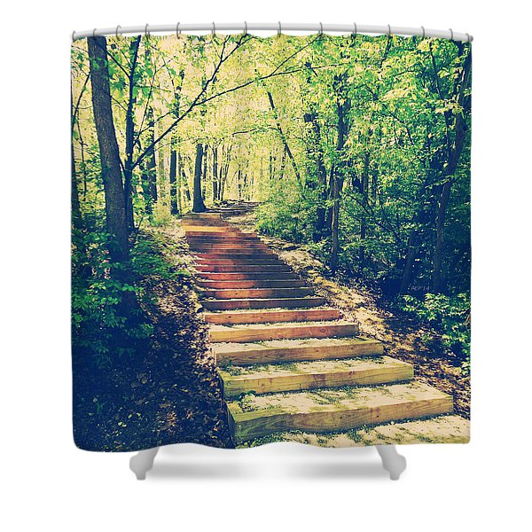 Stairway Into The Forest Shower Curtain