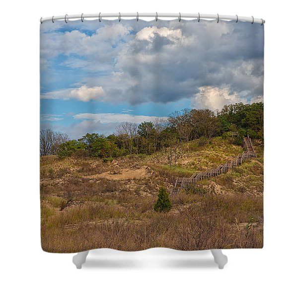 Stairway Of The Dunes Shower Curtain
