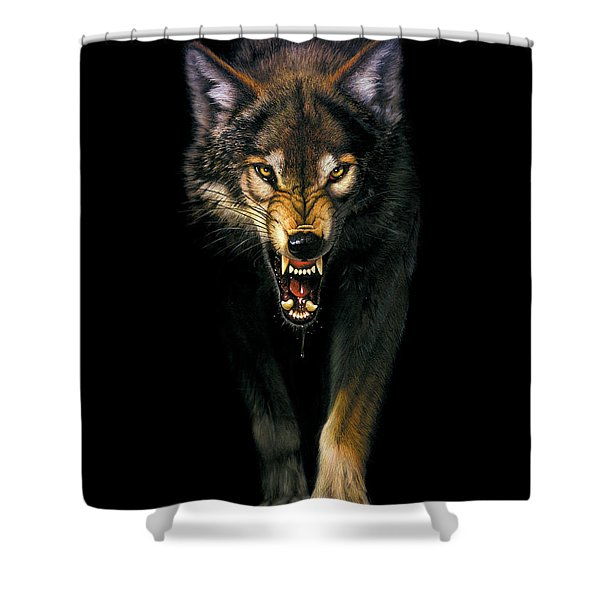 Stalking Wolf Shower Curtain