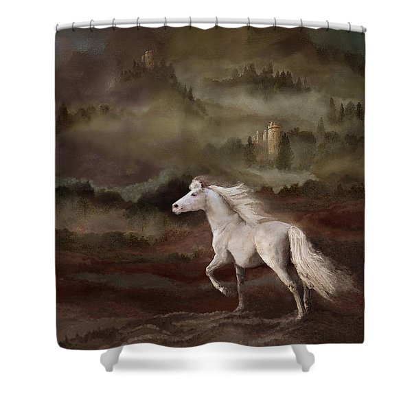 Shower Curtain featuring the photograph Stallion Of The Knolls by Melinda Hughes-Berland