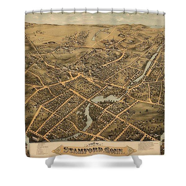 Stamford Connecticut 1875 Shower Curtain