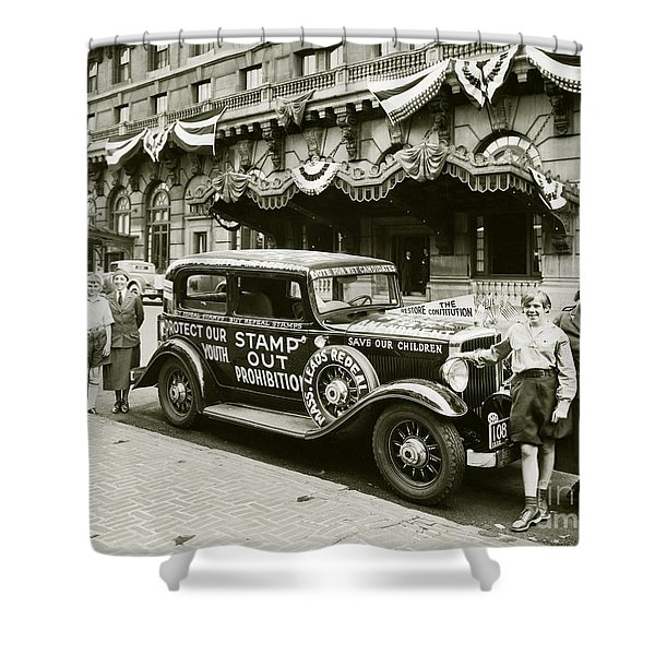 Stamp Out Prohibition Shower Curtain